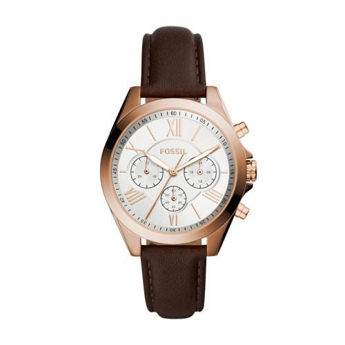 Fossil Modern Courier Chronograph Brown Leather Watch BQ3381