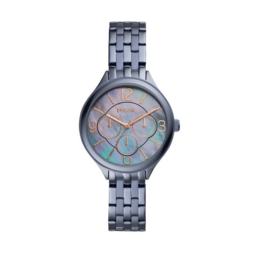 Fossil Suitor Multifunction Steel Blue Stainless Steel Watch BQ3385
