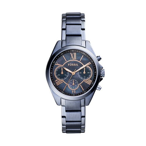 Fossil Modern Courier Chronograph Steel Blue Stainless Steel Watch BQ3386