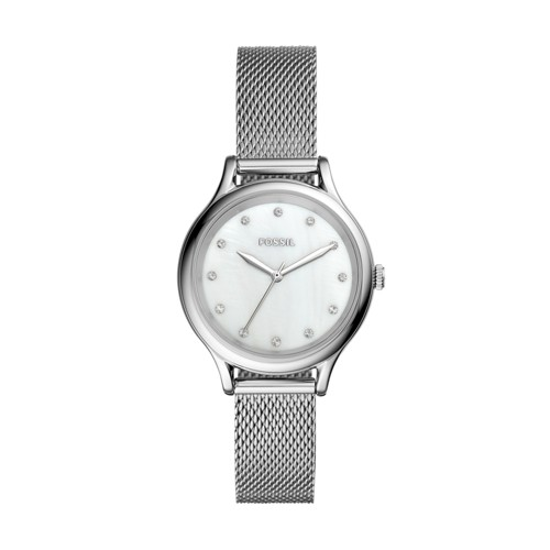 Fossil Laney Three-Hand Stainless Steel Watch  Jewelry