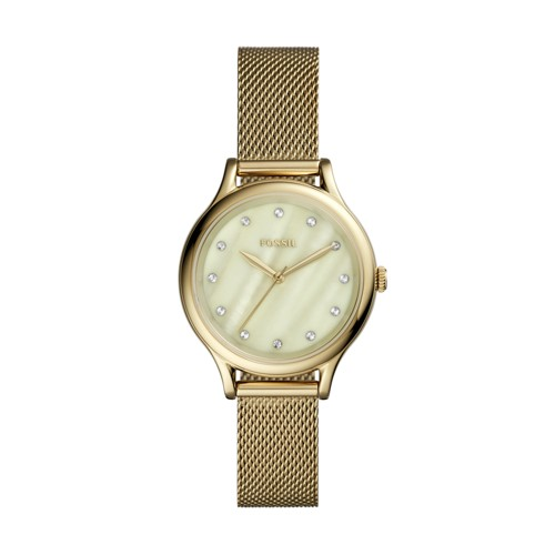 Fossil Laney Three-Hand Gold-Tone Stainless Steel Watch BQ3391