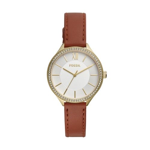 Fossil Suitor Three-Hand Brown Leather Watch BQ3407