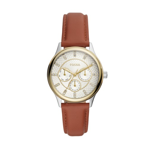 Fossil Modern Sophisticate Multifunction Brown Leather Watch BQ3408
