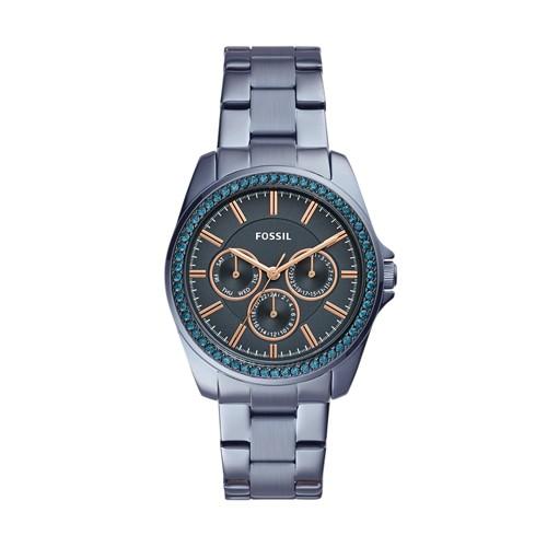 Fossil Janice Multifunction Steel Blue Stainless Steel Watch BQ3415