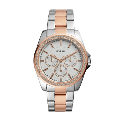fossil Janice Multifunction Two-Tone Stainless Steel Watch BQ3420