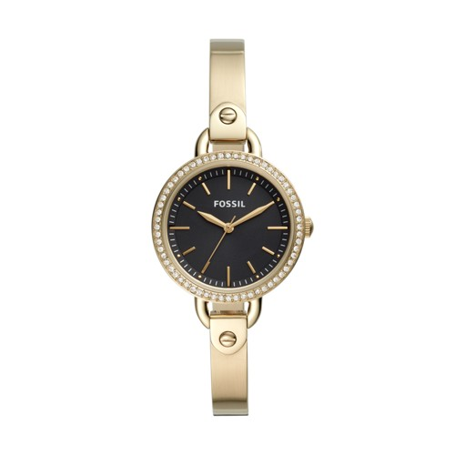 fossil Classic Minute Three-Hand Gold-Tone Stainless Steel Watch BQ3425