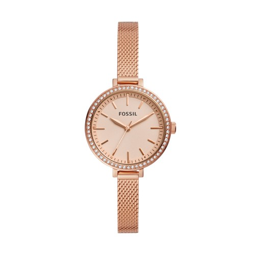 fossil Classic Minute Three-Hand Rose Gold-Tone Stainless Steel Watch BQ3456