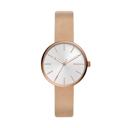 Hutton Three-Hand Tan Leather Watch BQ3460