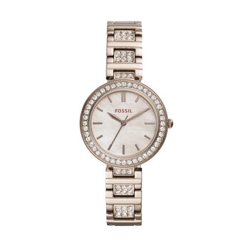 Karli Three-Hand Pastel Pink Stainless Steel Watch BQ3468