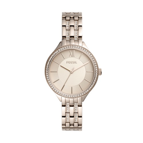 fossil Suitor Three-Hand Pastel Pink Stainless Steel Watch BQ3472