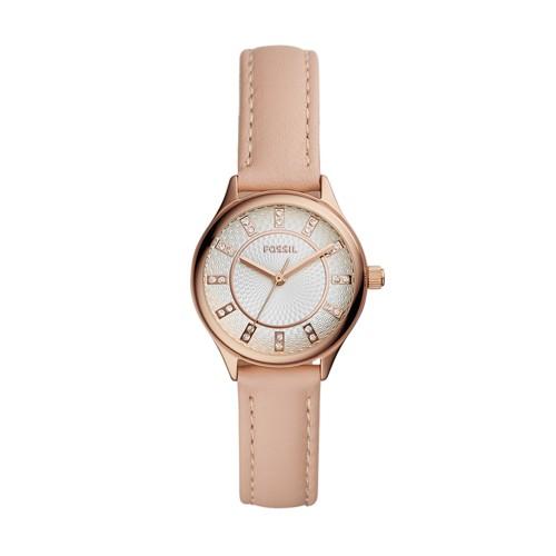 fossil Modern Sophisticate Three-Hand Blush Leather Watch BQ3481