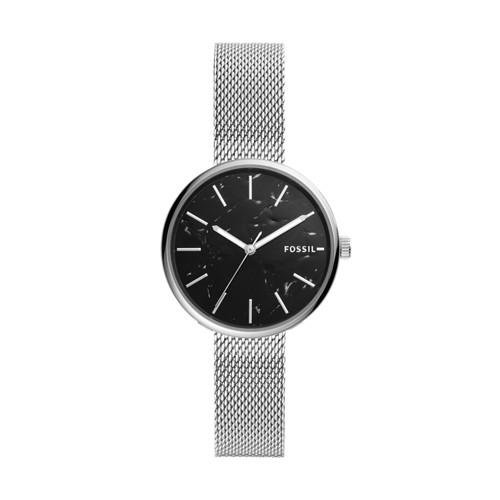 fossil Hutton Three-Hand Stainless Steel Watch BQ3490