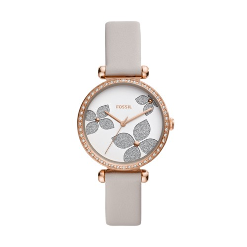 fossil Tillie Three-Hand Gray Leather Watch BQ3509