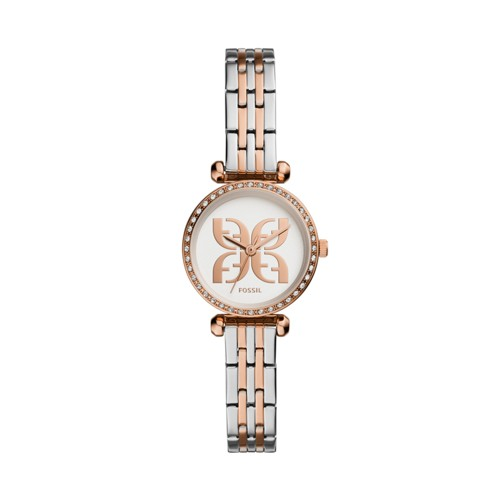 fossil Tillie Mini Three-Hand Two-Tone Stainless Steel Watch BQ3511