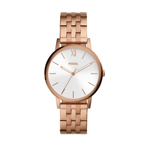 fossil Cambry Three-Hand Rose Gold-Tone Stainless Steel Watch BQ3513