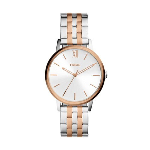 fossil Cambry Three-Hand Two-Tone Stainless Steel Watch BQ3514