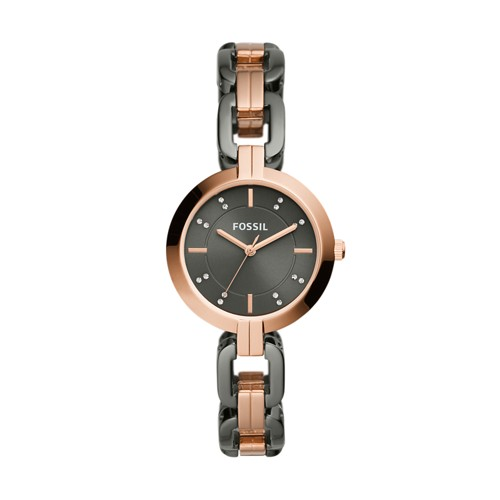 fossil Kerrigan Three-Hand Two-Tone Stainless Steel Watch BQ3519