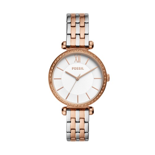 fossil Tillie Three-Hand Two-Tone Stainless Steel Watch BQ3523