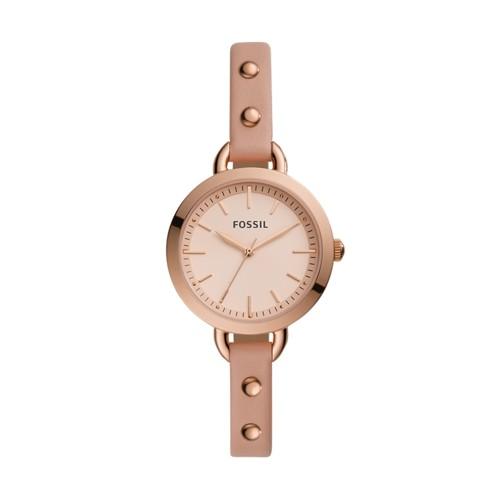 Classic Minute Three-Hand Blush Leather Watch BQ3527
