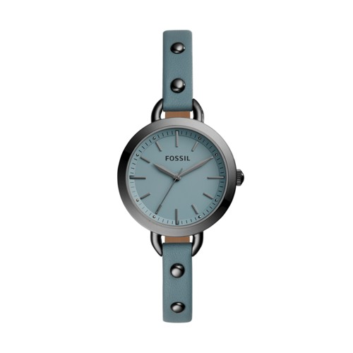 Classic Minute Three-Hand Gunmetal Leather Watch BQ3529
