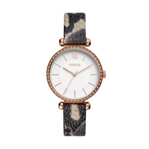 Tillie Three-Hand Gray Leather Watch BQ3532