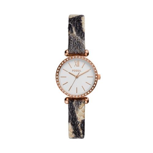Tillie Mini Three-Hand Gray Leather Watch BQ3533