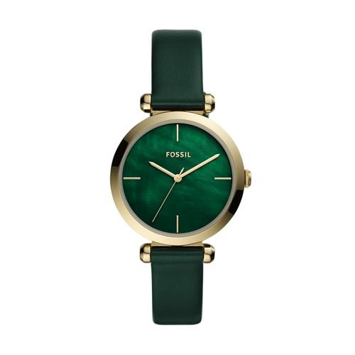 Fossil Tillie Three-Hand Dark Green Leather Watch  jewelry