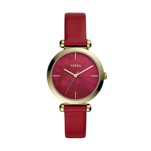 Fossil Tillie Three-Hand Red Leather Watch  jewelry