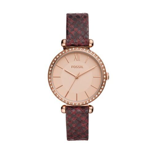 Tillie Three-Hand Dark Brown Leather Watch BQ3551