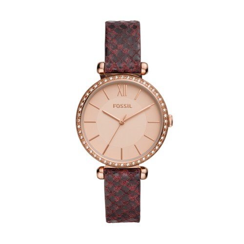 Fossil Tillie Three-Hand Dark Brown Leather Watch  jewelry