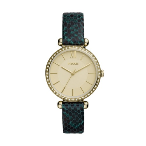 Fossil Tillie Three-Hand Fern Leather Watch  jewelry