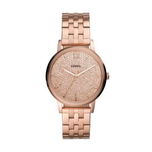 Cambry Three-Hand Rose Gold-Tone Stainless Steel Watch BQ3555