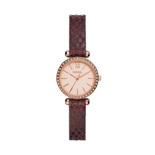 Tillie Mini Three-Hand Dark Brown Leather Watch BQ3557