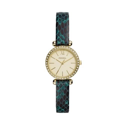 Fossil Tillie Mini Three-Hand Fern Leather Watch  jewelry