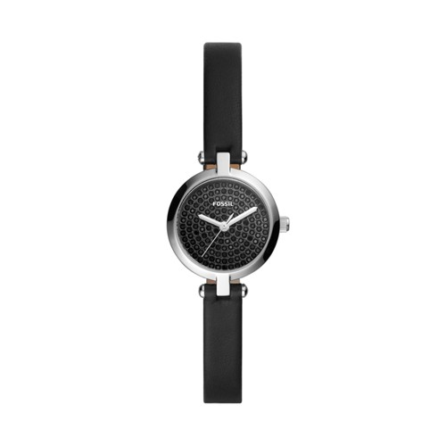 Kerrigan Mini Three-Hand Black Leather Watch BQ3561
