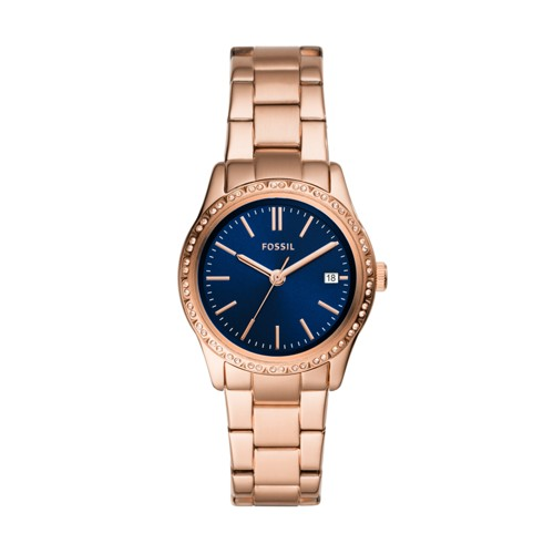 Adalyn Three-Hand Rose Gold-Tone Stainless Steel Watch BQ3563