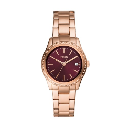 Adalyn Three-Hand Rose Gold-Tone Stainless Steel Watch BQ3564