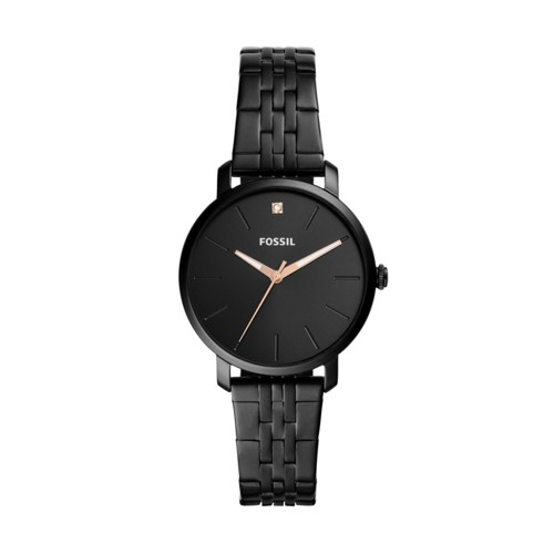 Lexie Luther Three-Hand Black Stainless Steel Watch BQ3569