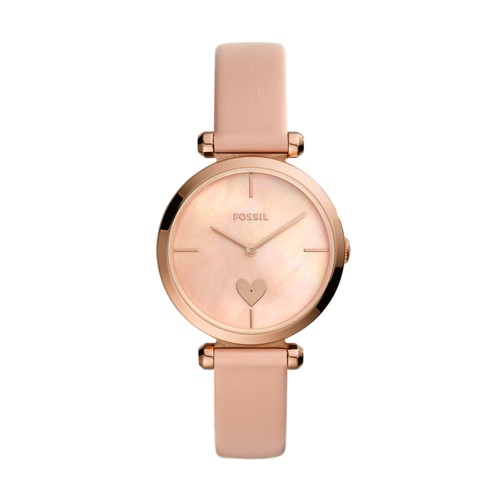 Fossil Tillie Three-Hand Blush Leather Watch  jewelry