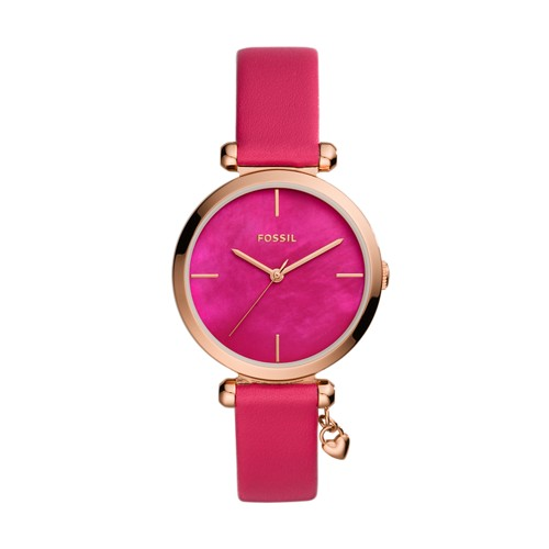 Fossil Tillie Three-Hand Pink Leather Watch  jewelry