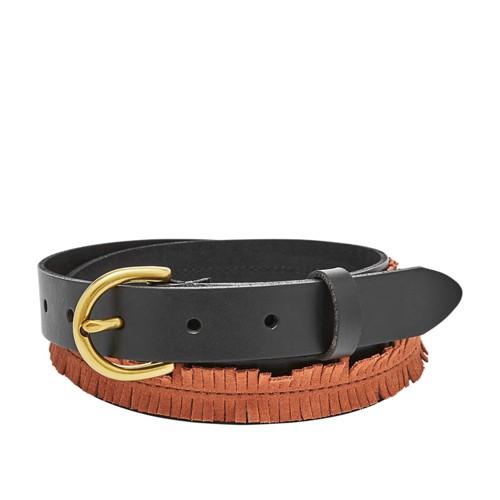 Fossil Fringe Skinny Belt Bt4373015l