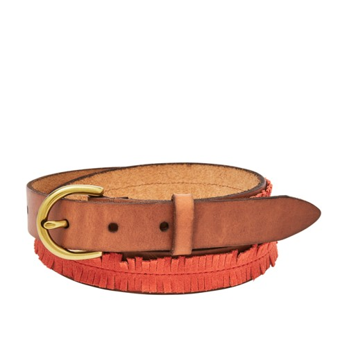 Fossil Fringe Skinny Belt Bt4373620l