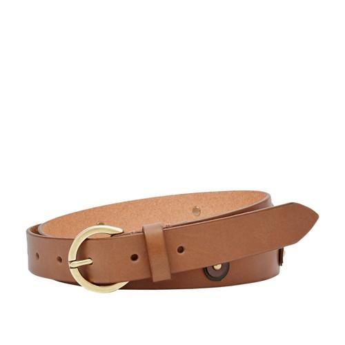 Fossil Skinny Embellished Belt Bt4396200l Color: Brown