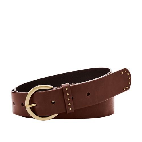 Fossil Jean Stud Keeper Belt Bt4399200l Color: Brown