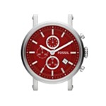 Stainless Steel 22Mm Watch Case - Red, Modern Men's Convertible Watches Fossil Discount C221012