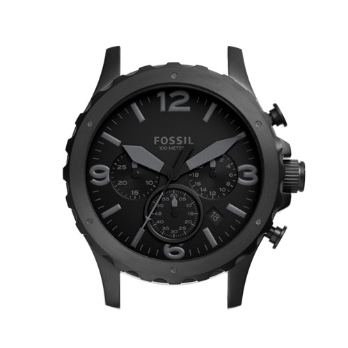 Fossil Nate Chronograph Black Stainless Steel Case C221026