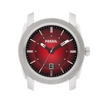 Fossil Machine Stainless Steel Watch Case Black and Cherry