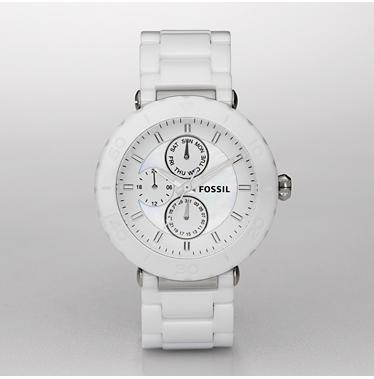 Fossil CE1000 White Ceramic Multifinction