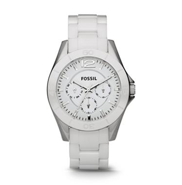 Fossil CE1002 White Ceramic Multifunction