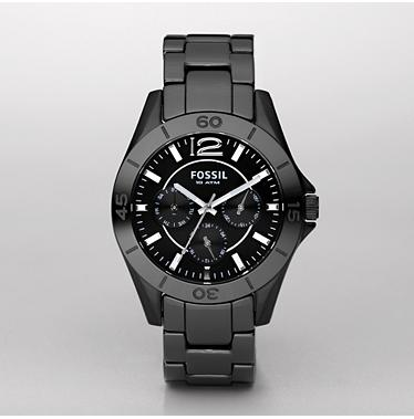 Fossil CE1003 Black Ceramic Multifunction